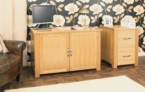 Aston Oak Hidden Home Office Computer Desk