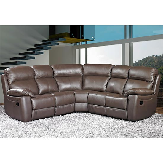 Aston Leather Corner Recliner Sofa In