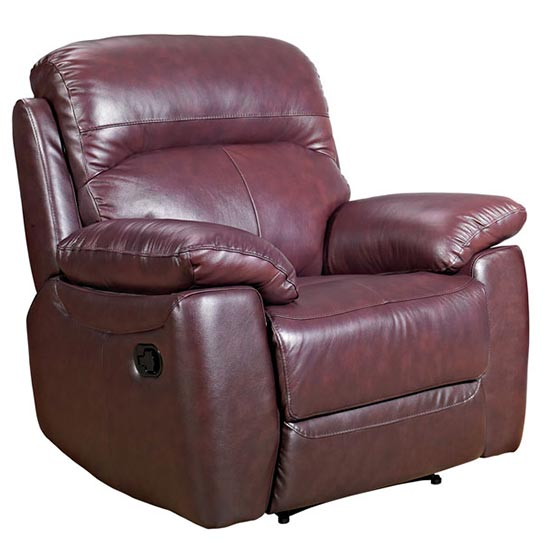 Astona Leather Recliner Sofa Chair In Chestnut