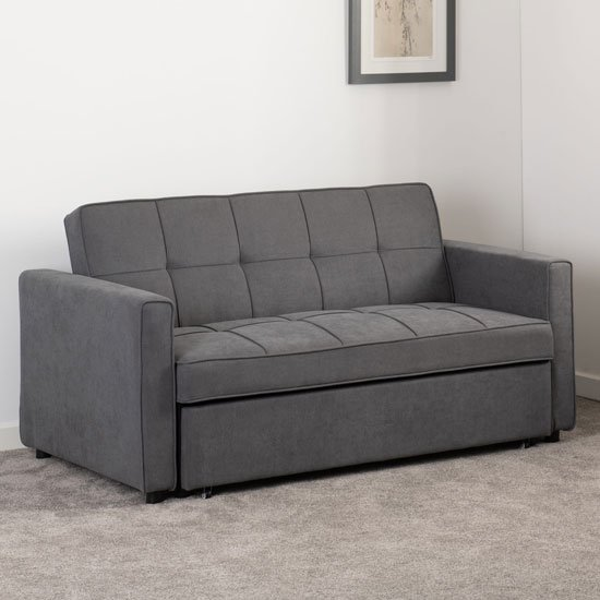 Astoria Fabric Sofa Bed In Dark Grey_1