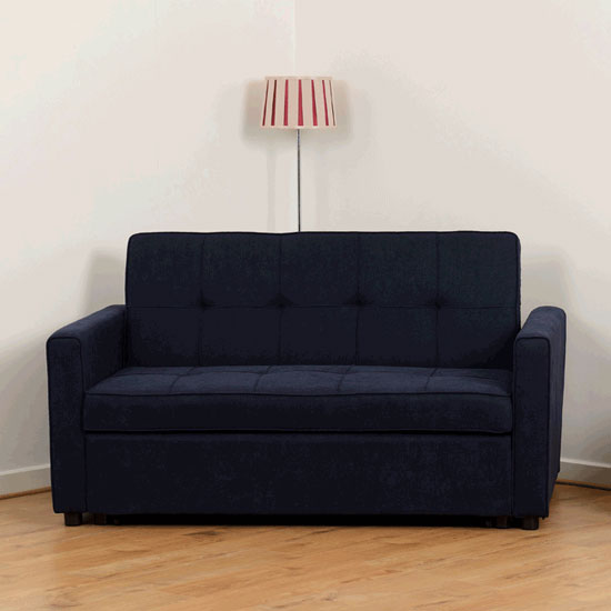 Astoria Fabric Sofa Bed In Navy Blue
