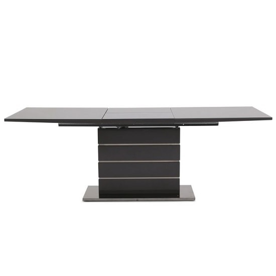 Astrid Glass Extendable Dining Table With Grey High Gloss_4