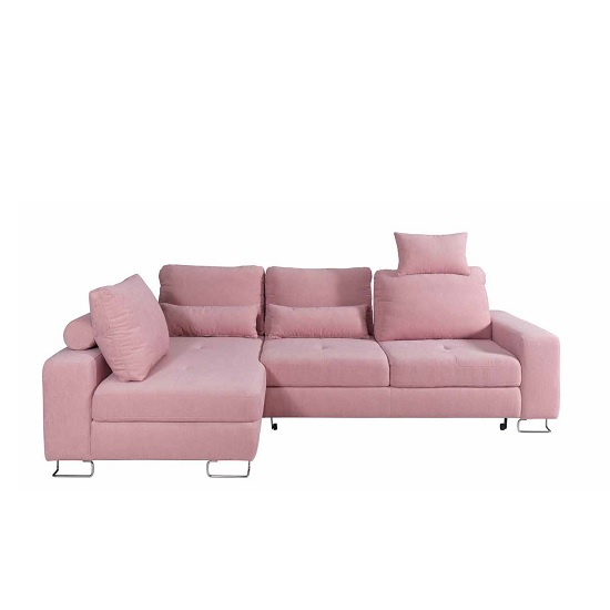 Corner Sofa Bed Contemporary: Astrid Modern Fabric Corner Sofa Bed In Pink With Storage