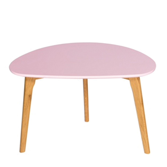 Astro Wooden Coffee Table In Pink