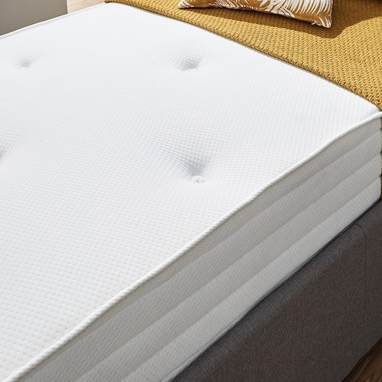 Product photograph showing Athena Luxury Tufted Bonnell King Size Mattress In White