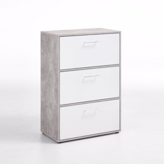 Athena Shoe Storage Cabinet In Light Atelier And White