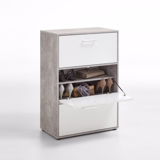 Athena Shoe Storage Cabinet In Light Atelier And White_2