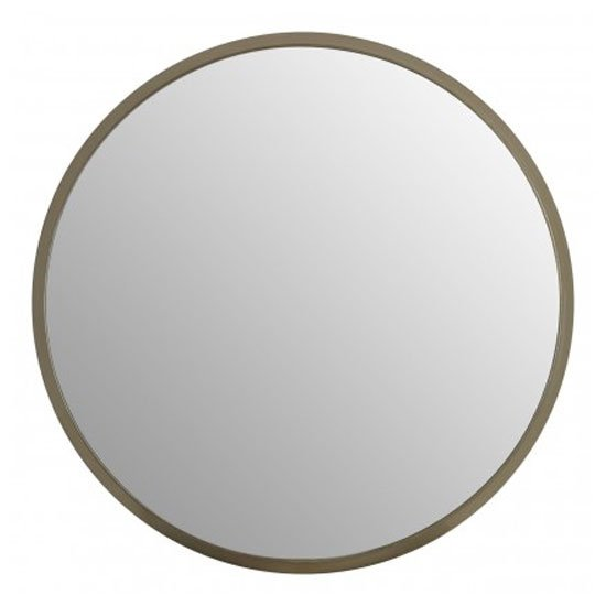 Athens Large Round Wall Bedroom Mirror In Silver Frame