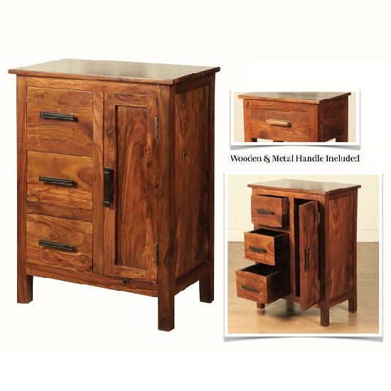 utility cabinets athens compact sideboard in solid shesham wood 27894 27894