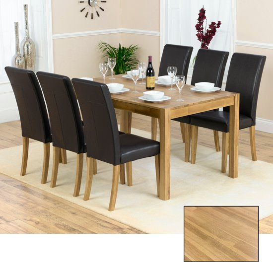 Atlanta Solid Oak Dining Table And  6 Atlanta Dining Chairs