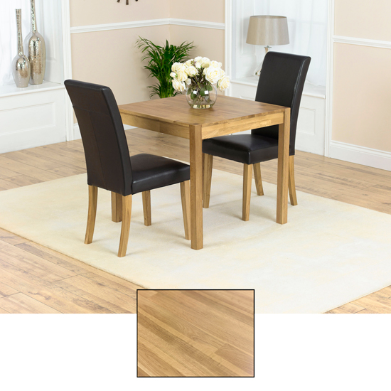 Atlanta Solid Oak Dining Table And 2 Atlanta Chairs
