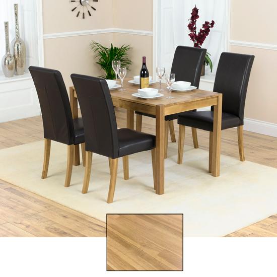 Atlanta Solid Oak Dining Table And 4 Atlanta Chairs