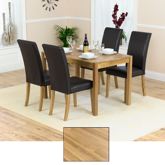 Atlanta solid oak dining table and 4 atlanta chairs 13521 - Dining room tables atlanta ...