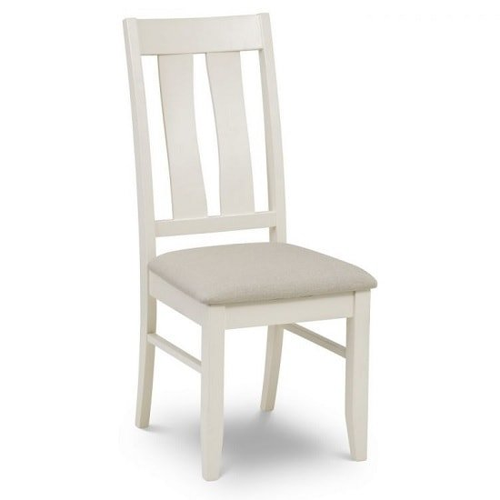 Atlantis Wooden Dining Chair In Ivory Lacquered Finish