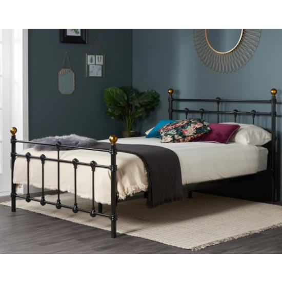 Atlas Steel Double Bed In Black
