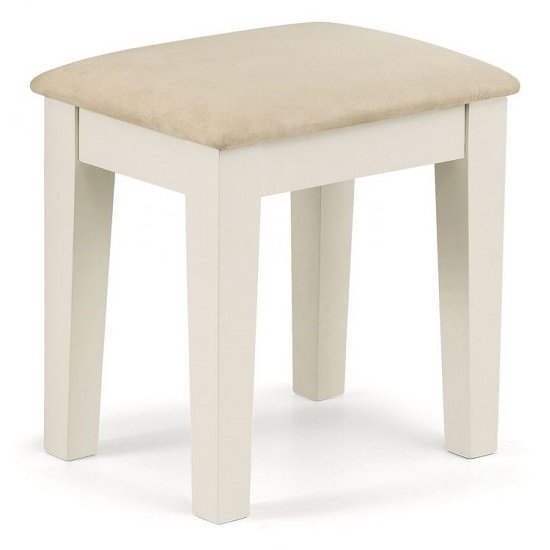 Atsabe Faux Suede Dressing Stool In Stone White Lacquer_1