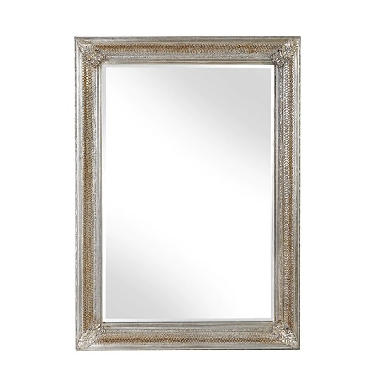 August Wall Mirror Rectangular In Gold And Silver