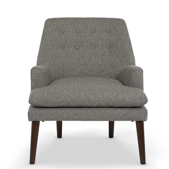 Austen Fabric Lounge Chair In Grey With Wooden Legs_2