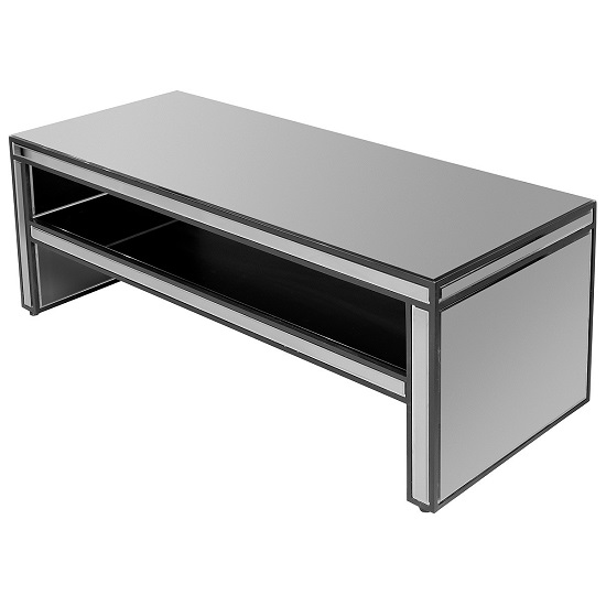 Austen Mirrored TV Stand Rectangular In Titanium