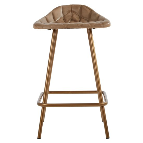 Australis Cubic Base Faux Leather Bar Stool In Grey