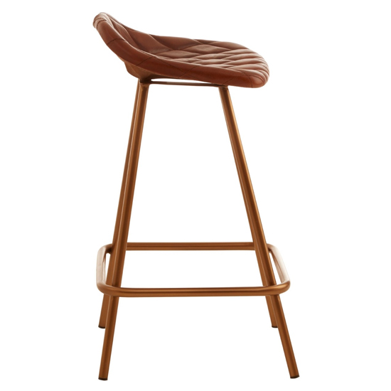 Australis Cubic Base Faux Leather Bar Stool In Tan_2