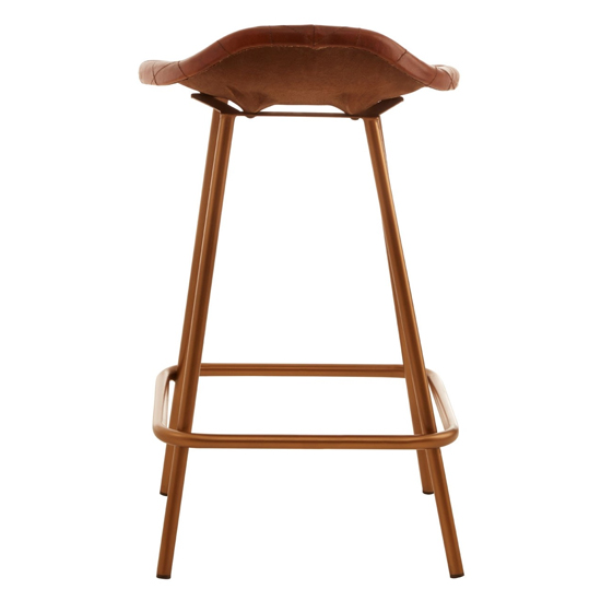 Australis Cubic Base Faux Leather Bar Stool In Tan_3