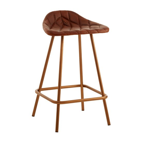 Australis Cubic Base Faux Leather Bar Stool In Tan_4