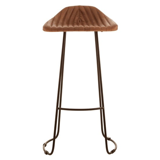Australis Faux Leather Bar Stool In Light Brown