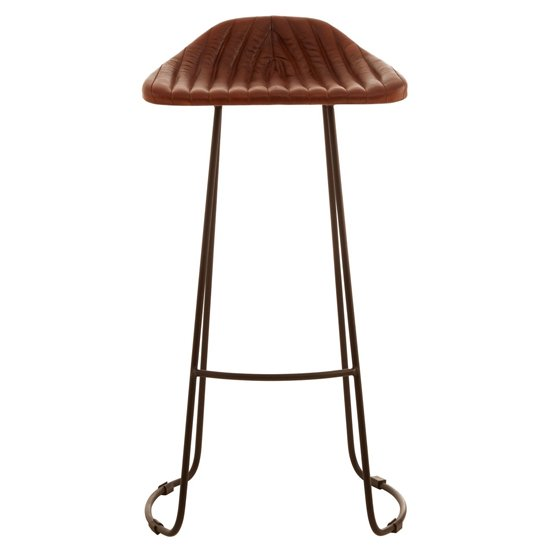Australis Faux Leather Bar Stool In Tan