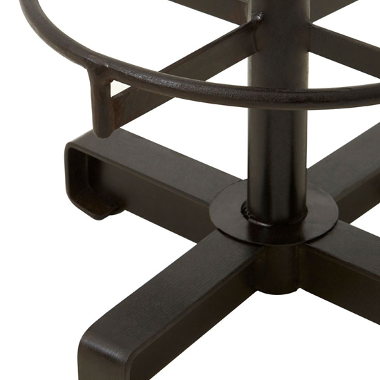 Australis Faux Leather Round Bar Stool In Brown_3