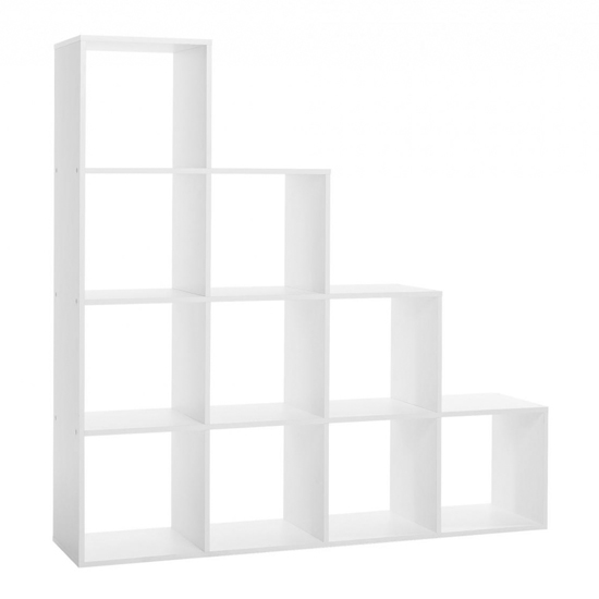 Austrinus Storage Unit In White With 10 Shelves