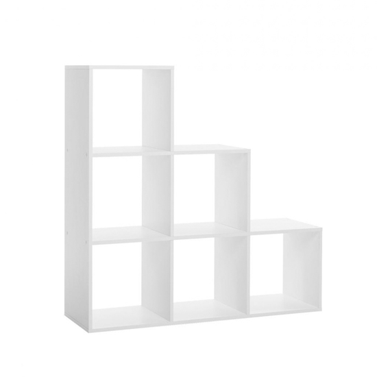 Austrinus Storage Unit In White With 6 Shelves