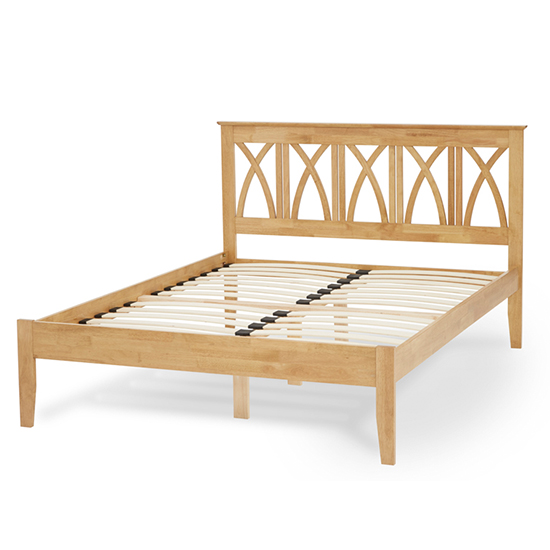 Autumn Hevea Wooden Small Double Bed In Honey Oak_3