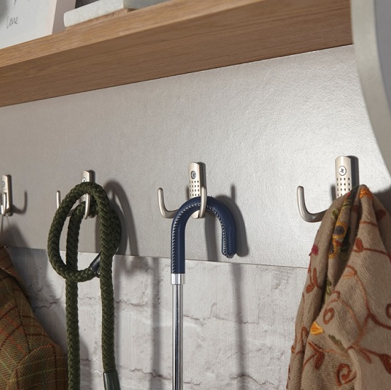 Ava Wall Mounted Coat Rack In Grey With Shelf_2