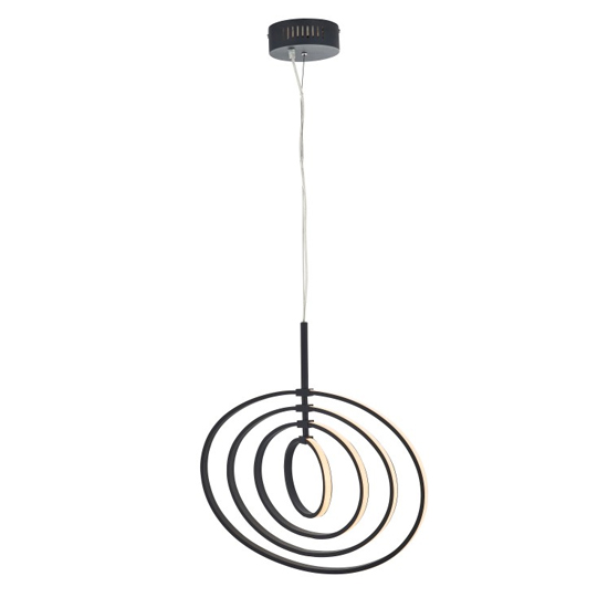 Avali Wall Hung Pendant Light In Black