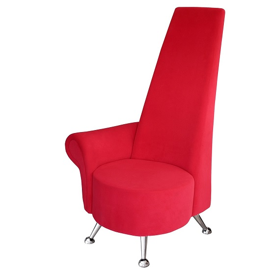 Avalon Right Handed Mini Potenza Chair In Red With Chrome Legs