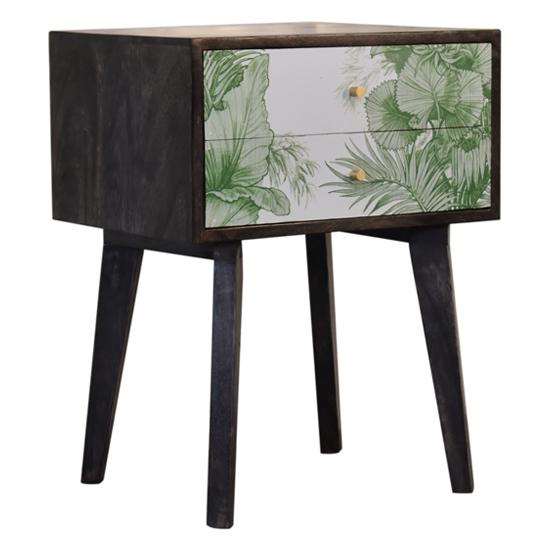 View Avanti wooden bedside cabinet in tropical pattern