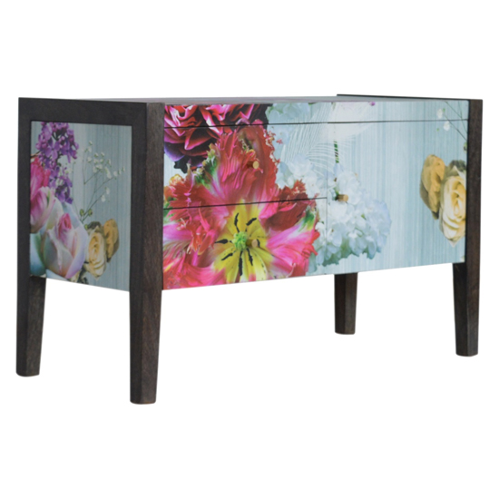 Avanti Wooden TV Stand In Floral Pattern