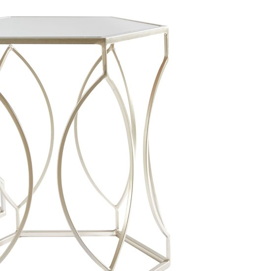 Avanto Set Of 2 Side Tables In Champagne With Mirrored Top _2