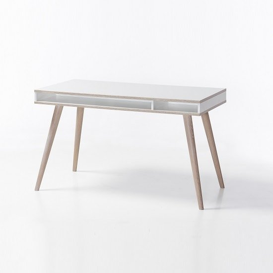 Avira Wooden Childrens Desk In Alpine White And Oak
