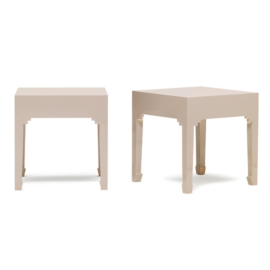 Avlion Oyster Grey Wooden Lamp Tables In Pair