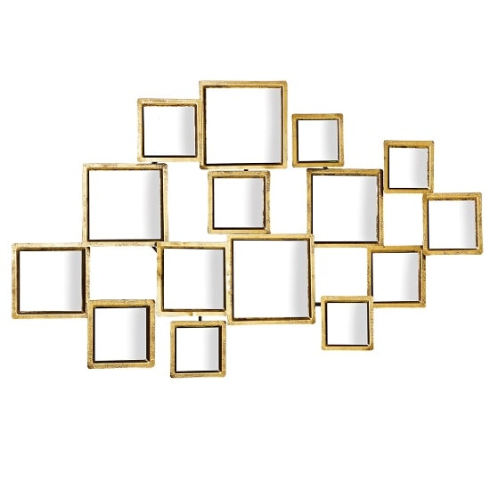 Avoca Wall Art Style Wall Mirror In Antique Gold