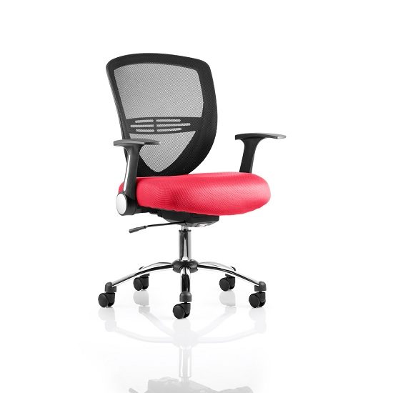 Avram Home Office Chair In Cherry With Castors