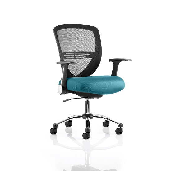 Avram Home Office Chair In Kingfisher With Castors