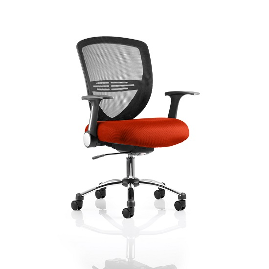 Avram Home Office Chair In Pimento With Castors