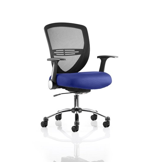 Avram Home Office Chair In Serene With Castors