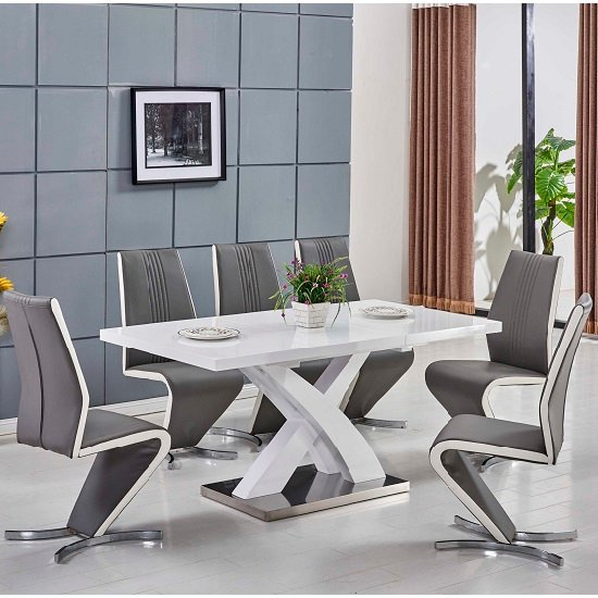 Axara Extendable Small Dining Table In All White High Gloss_2