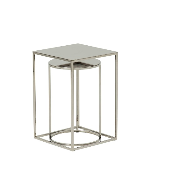 Axley Metal Nest Of 2 Tables In Polished Stainless Steel Finish_3