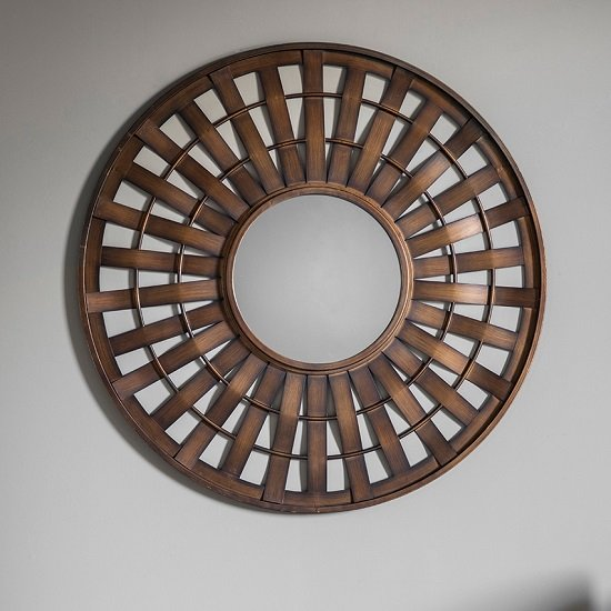 Axton Decorative Wall Mirror Round In Bronze
