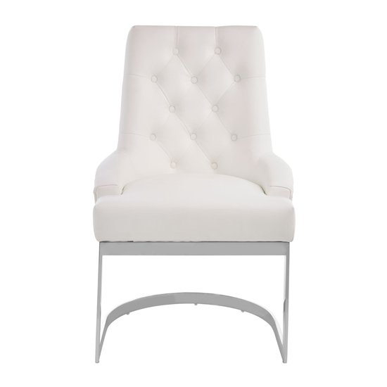 Azaltro Linen Fabric Dining Chair In Ivory